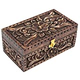 keepsake box - Christmas Day Gifts Jewelry Trinket Box Wooden Small Square Keepsake Box Handcrafted Fine Celtic Inlaid Multipurpose Organizer (Old Jewelry Box)