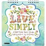 2015 Live Simply Studio Mini Wall Calendar Orange Circle Studios