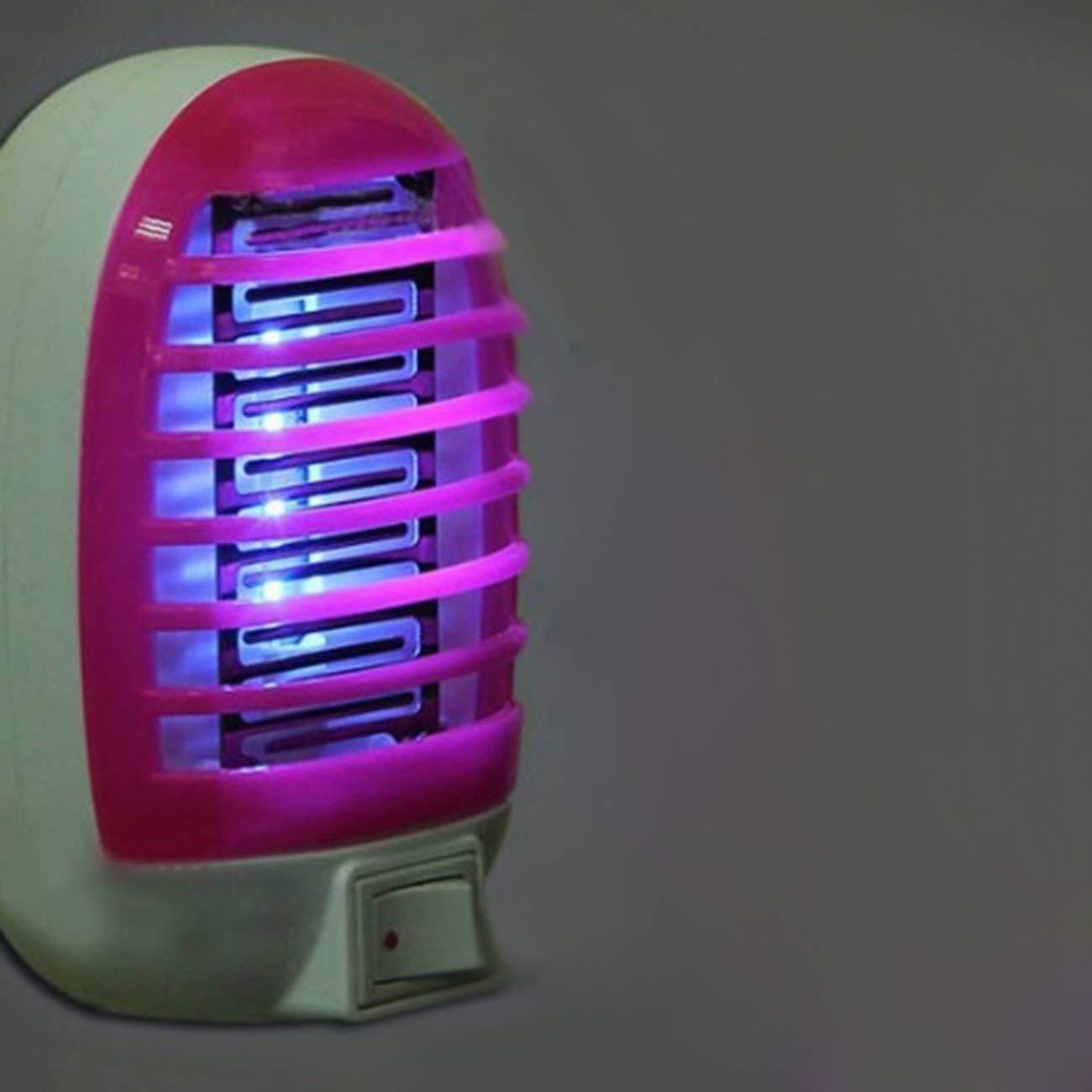 Mini presa LED Mosquito Fly Bug Trappola per insetti Lampada da notte Killer Zapper Zanzara elettrica Lampada Killer Repellente per zanzare JBP-X rosa rossa