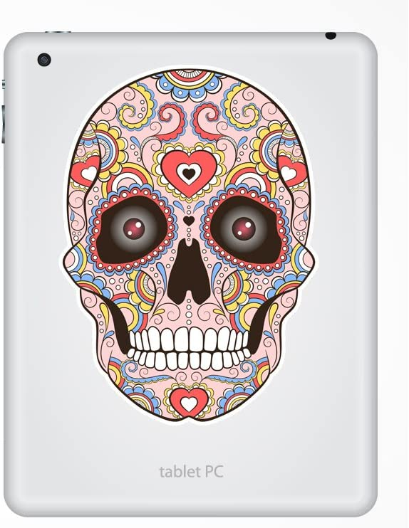 2 x 15cm//150mm Sugar Skull with Eyes Vinyl Stickers Mexico Festival Day of the Dead #7433