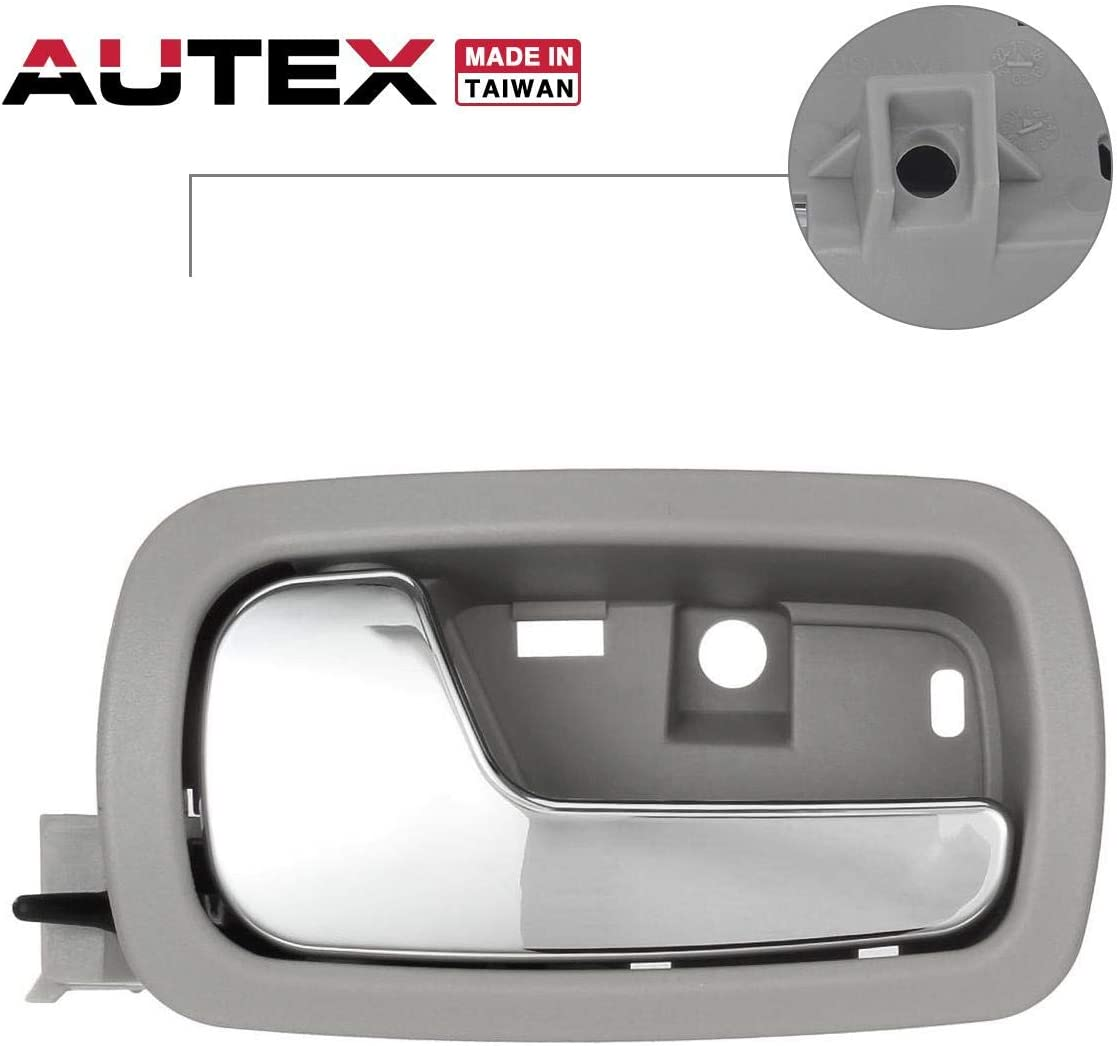 Amazon Com Autex Gray Chrome Door Handle Interior Front