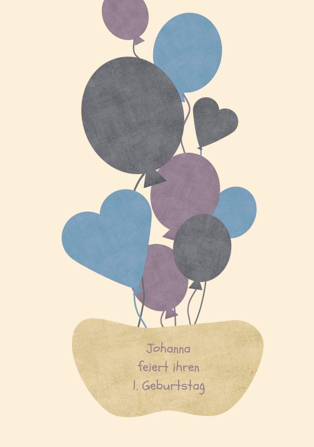 Einladung Foto Foto Foto Airballoons, 20 Karten, MattGelb B07L132YW4 | Schön und charmant  | Schön geformt  | Neuankömmling  1638b7