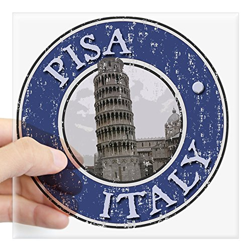 CafePress - Pisa, Italy - Distressed Square Sticker 3