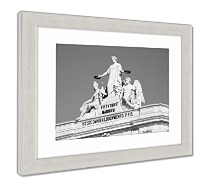 Amazon.com: Ashley Framed Prints Detail Of The Rua Augusta Arch ...