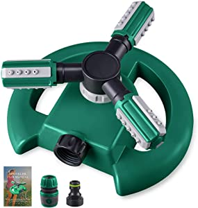 Hinastar Lawn Sprinkler,Automatic Garden Water Sprinkler,Upgrade 360 Degree Rotation Irrigation System,Large Area Coverage,Sprinkler for Yard,Lawn,Kids and Garden