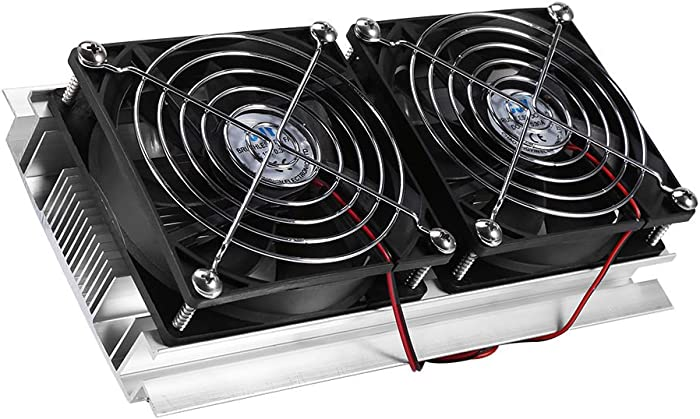 Northbear Thermoelectric Peltier Refrigeration Cooling Cooler Fan System Heatsink Kit Cooler (2 Fan)