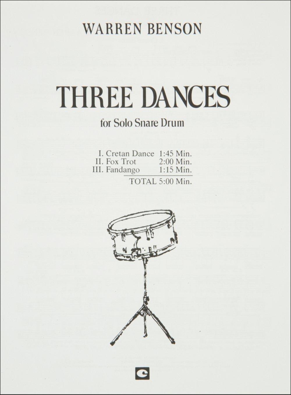 Hal Leonard Three Dances for Solo Snare Drum pdf epub