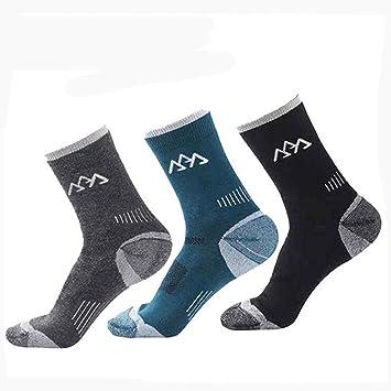 West ciclismo calcetines de lana transpirable y cómodo para Ciclismo MTB tripulación calcetines hombres, hombre Niños, Dark Grey/Blackish Green/Black: ...