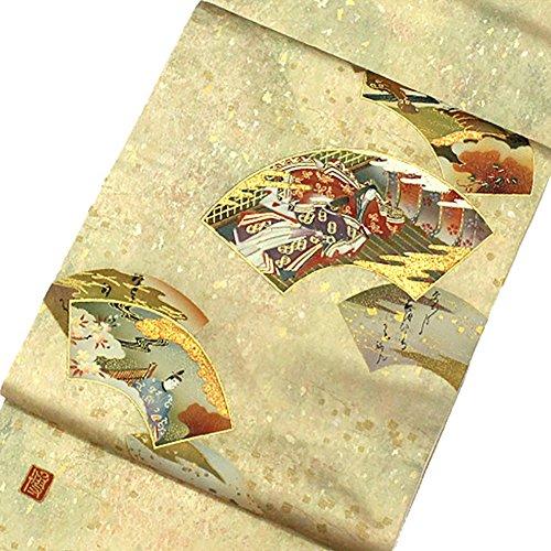 約束するコロニーヒゲ袋帯 着物 きもの 正絹 お太鼓柄 箔 金彩 和服 リサイクル【中古】 70175202