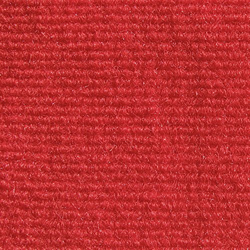 House, Home and More Indoor/Outdoor Carpet with Rubber Marine Backing - Red 6' x 10' - Carpet Flooring for Patio, Porch, Deck, Boat, Basement or Garage