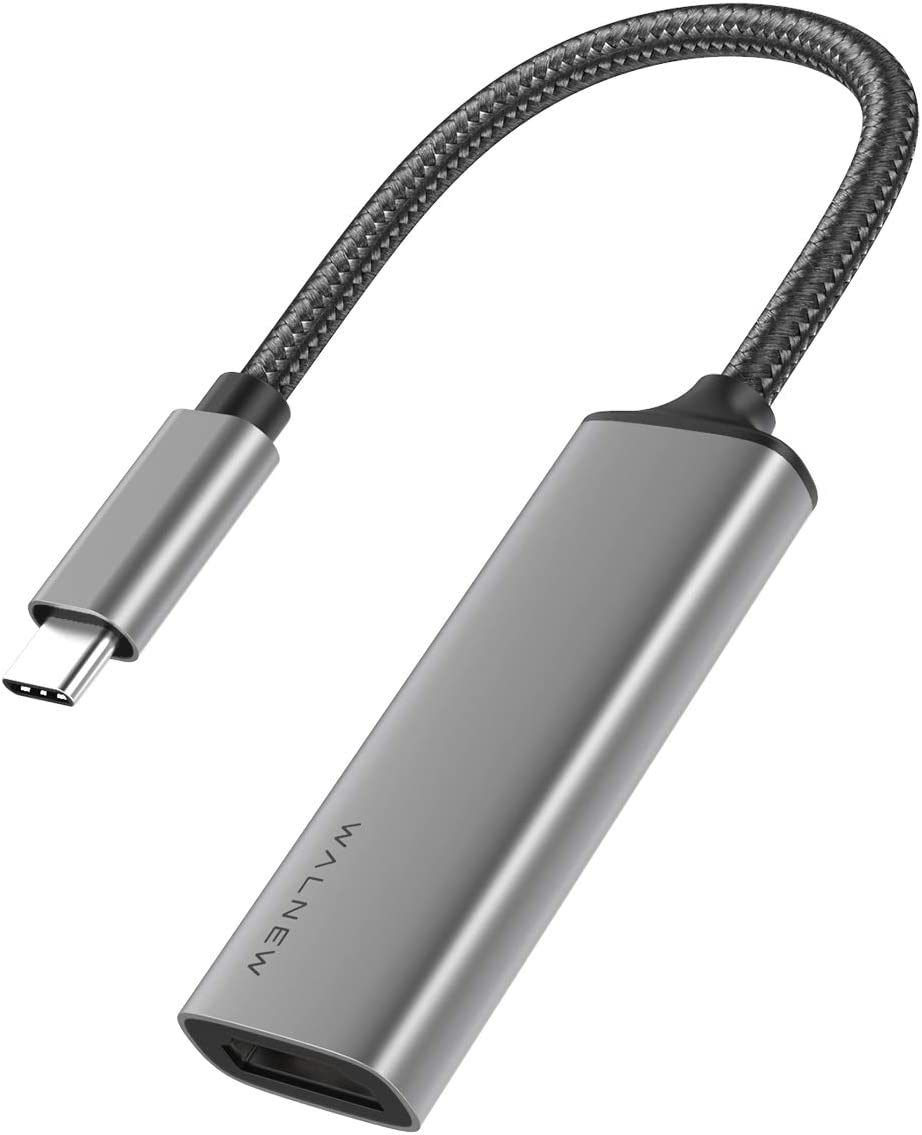 USB C to HDMI Adapter (4K@60Hz), WALNEW USB Type-C to HDMI Adapter (Thunderbolt 3 Compatible), HDMI to USB C Adapter for MacBook Pro/Air, iPad Pro, Pixelbook, Dell XPS, Samsung Galaxy and More (Gray)