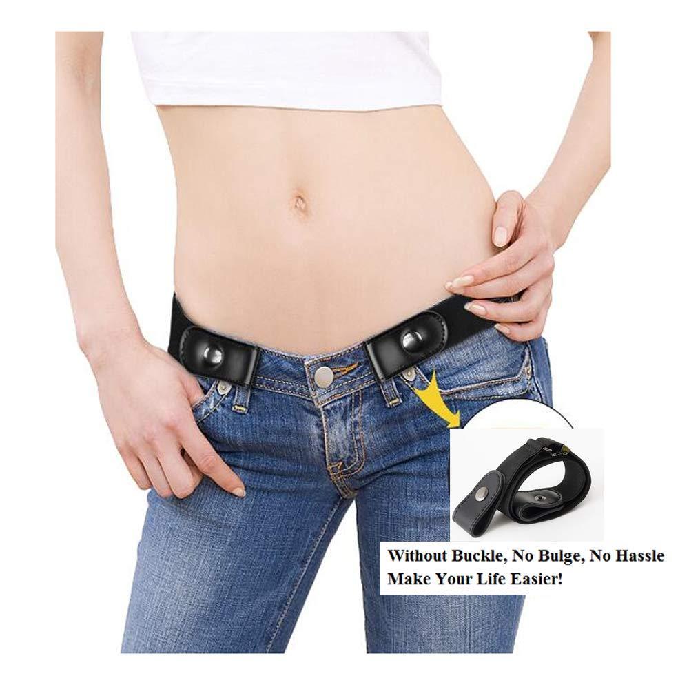 match Cintura Elastica Elasticizzata Senza Fibbia ZUMIY Cintura Elastica Invisibile Cintura senza Fibbia per Donna//Uomo