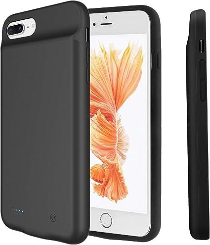 Cover Batteria per iPhone 8 Plus/7 Plus, PEMOTech [Compatibili Auricolari Lightning] 4000mAH Power Bank con Batteria Integrata Custodia Cover ...