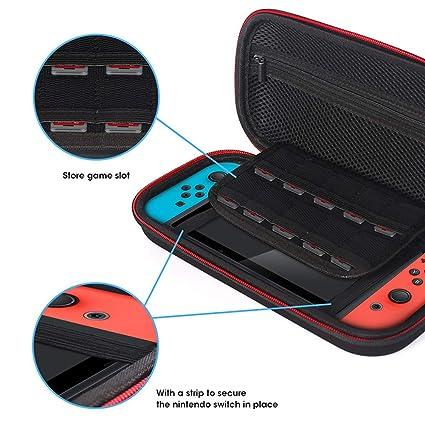 JiuRong Estuche Protector para Nintendo Switch con Insertos ...