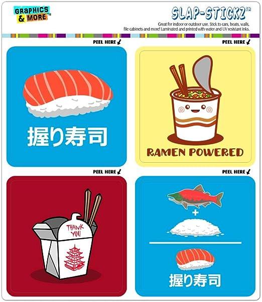 Grafics & More Sushi Ramen - Juego de Pegatinas para álbumes de Recortes y Calendario, diseño japonés Chino: Amazon.es: Juguetes y juegos