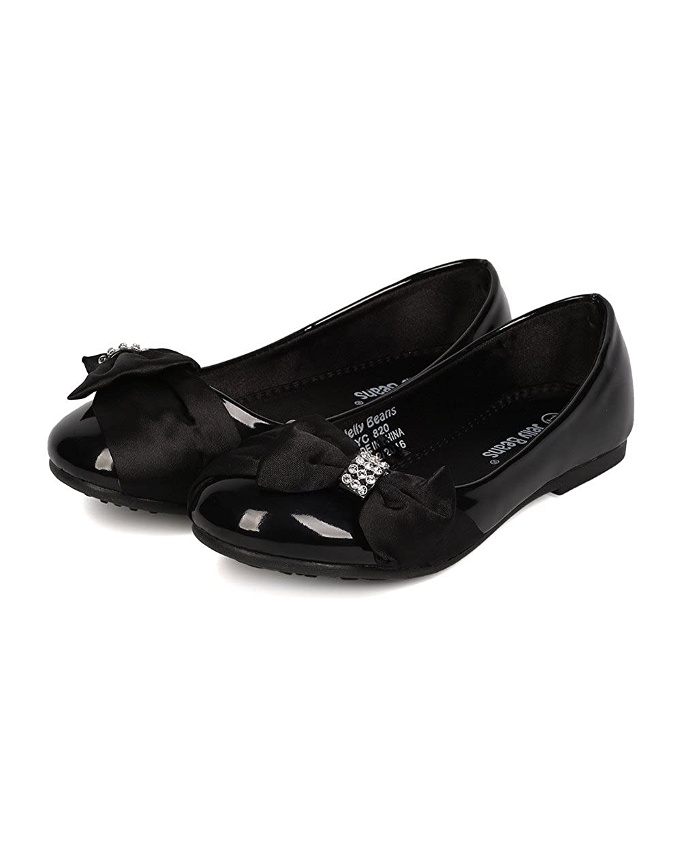 JELLYBEANS Zalo//Zaloya Beautfiul Flower Girl Mary Jane Ballet Flat Low Heel Jelly Beans MOGI Mogical