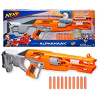 NERF Elite - Accustrike Alphahawk Blaster - inc 10 genuine Darts