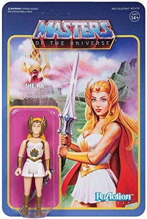 2019 EXCLUSIVE SUPER 7 MOTU MASTERS OF UNIVERSE SHE-RA REACTION IN HAND POP NEW
