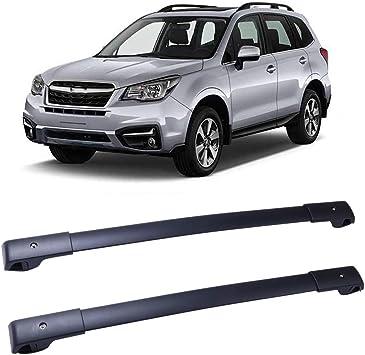 TUPARTS Cross Bars Roof Racks Aluminum Luggage Carrier Racks fit for 2014 2015 2016 2017 2018 Subaru Forester Wagon 4-Door 2.0L 2.5L