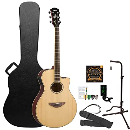 Amazon.com: Yamaha 6 String Acoustic Guitar Pack, Natural (APX600): Musical Instruments