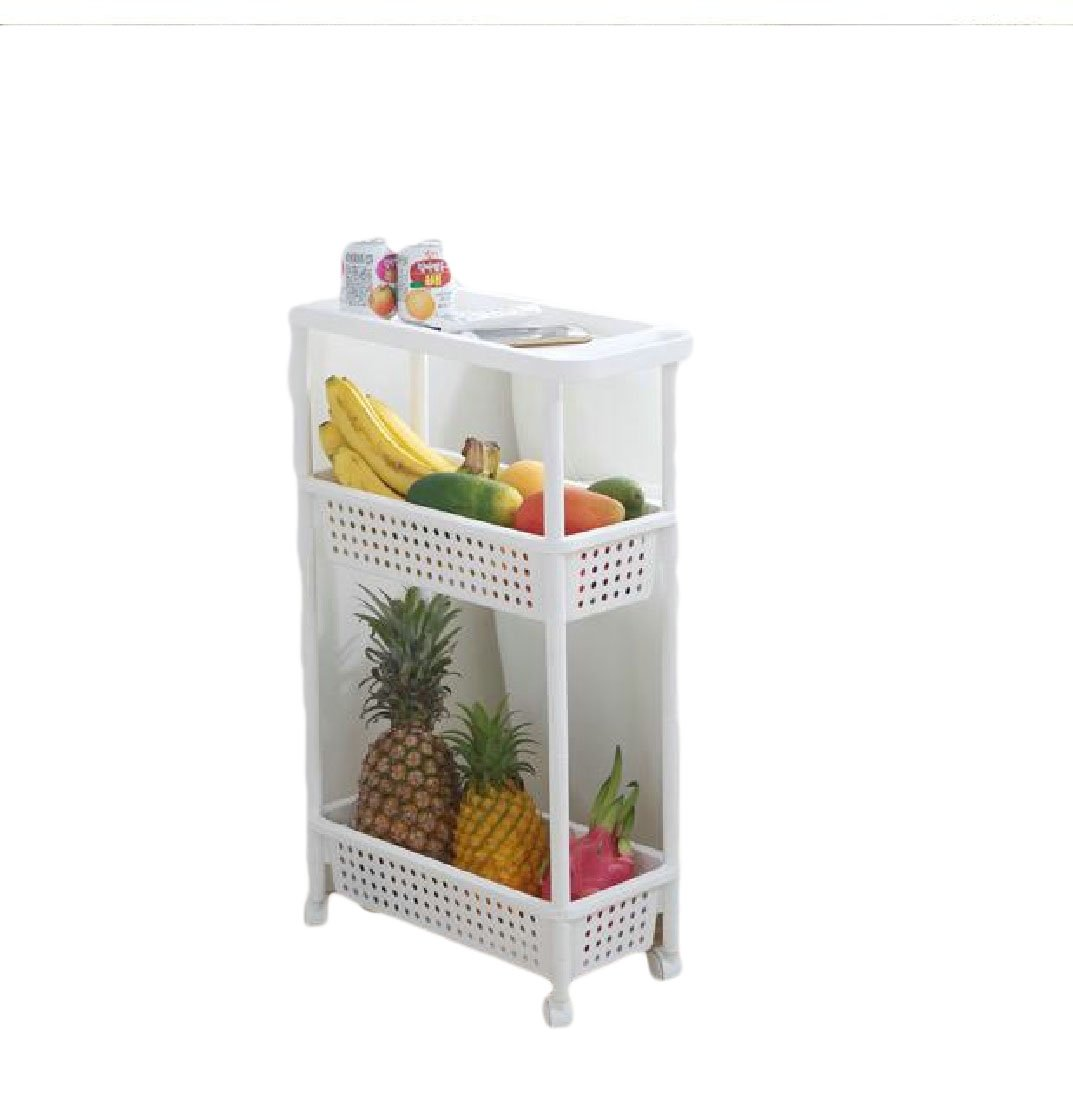Tootless Shelving Unit Wire Steel Solid Multipurpose Collapsable Expandable Metal Wire Storage Fit-and-Flare Purpose Counter Shelf White 4 shelves