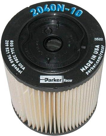 amazon.com: 2040n-10 racor fuel filter, 10 microns: automotive  amazon.com