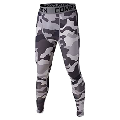 0050e25fafb37 Image Unavailable. SODIAL Men Compression Long Pants Running Base Layers  Skins Tights Army Camouflage Soccer Joggers Trousers(