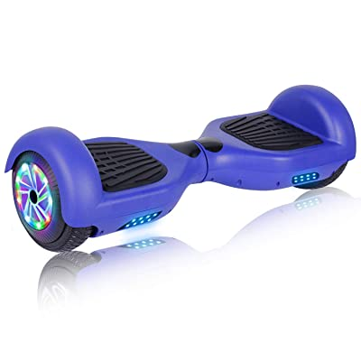 "UNI-SUN 6.5"" Hoverboard for Kids, Two Wheel Electric Scooter, Self Balancing Hoverboard with Bluetooth and LED Lights for Adults, UL 2272 Certified Hover Board (A01 Blue(No Bluetooth)): Sports & Outdoors"