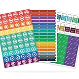 The Simple Elephant Stickers - Productivity Planner Stickers - Perfect Fit with Planners, Journals, Agendas - Variety Pack with Calendar Tabs, Events, Flags - 6 Sheets - 392 Stickers