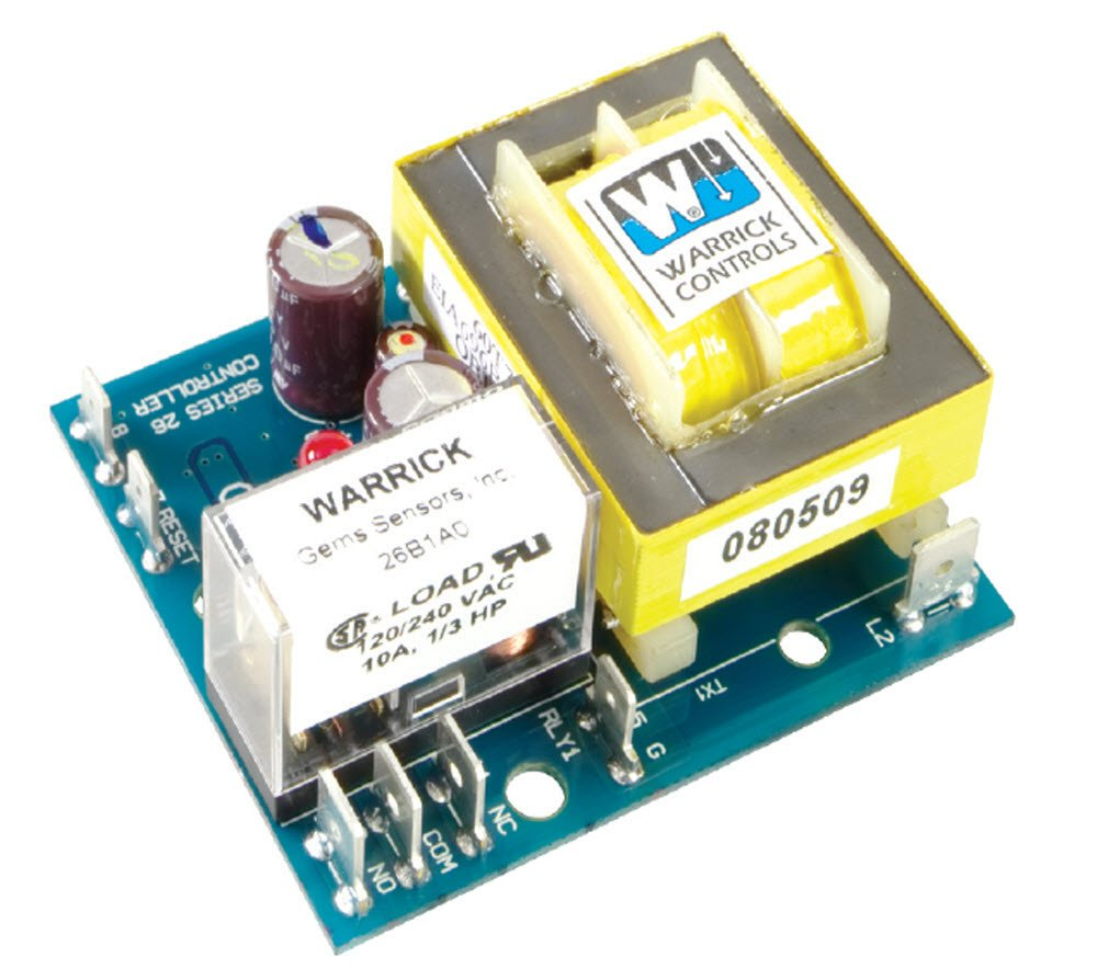 Warrick 26C1D0R General Purpose Low Water Cutoff Open Circuit Board Control with Retrofit Standoff, 26K ohms Direct Sensitivity, 120 VAC Voltage, Retrofit Plate