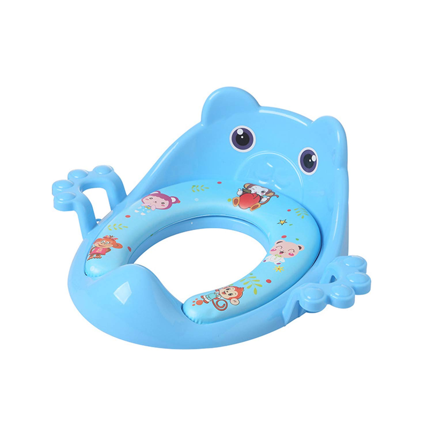 AIBAB Auxiliary Baby Toilet Seat Ring with Armrest Soft Cushion 5 Packs