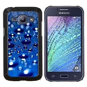 Queen Pattern - FOR Samsung Galaxy J1 J100 J100H - Blue Water Drop 3 - Cubierta del caso de impacto con el patr???¡¯???€????€?????n Art Des