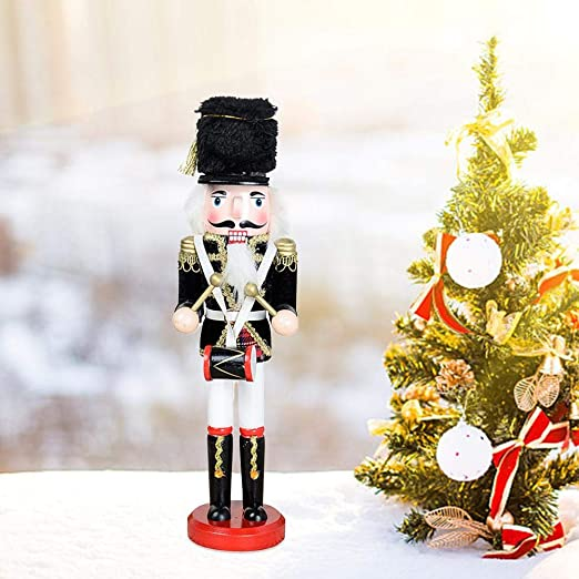 30cm Holiday Soldier w// Bagpipes Wooden Traditional Christmas solider Toy