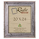 20x24 - 4'' Wide Premium Reclaimed Rustic Barnwood Wall Frame