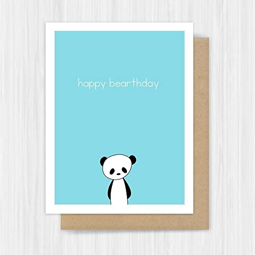 Amazon birthday card funny panda handmade greeting handmade birthday card funny panda handmade greeting bookmarktalkfo Image collections