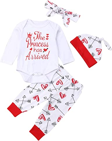 3PCS Newborn Infant Baby Boy Girl Romper Bodysuit+Pants+Hat Clothes Outfits Set