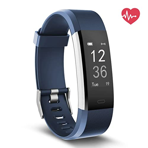 Delvfire Pulse HR Fitness Tracker Activity Watch and Heart Rate Monitor, Waterproof Touch Screen Smart Bracelet for Women, Men, Kids with Sleep Monitor, Pedometer Step Calorie Counter iPhone Android