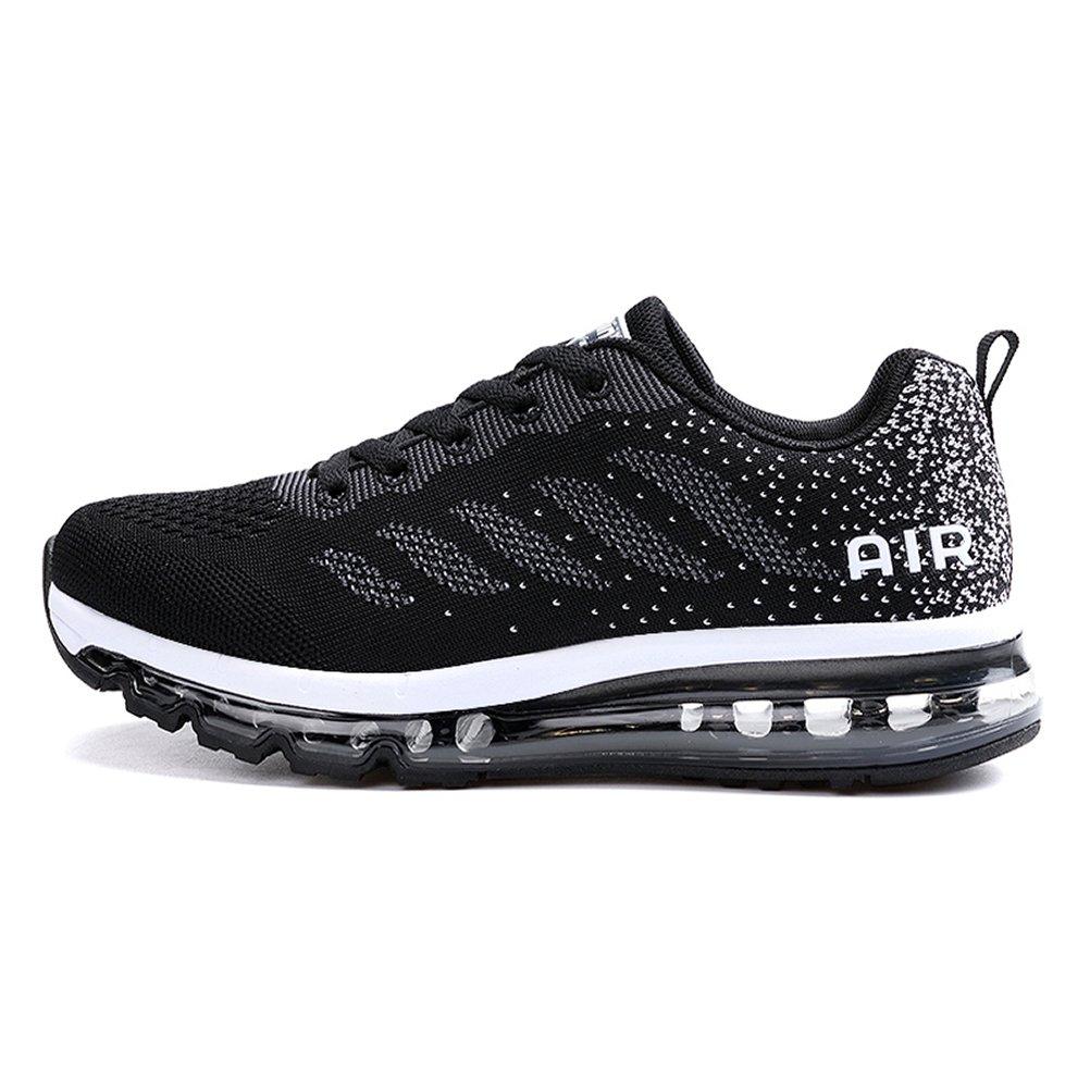 ONEKE Running Shoes Sneakers for Men Women Fashion Sports Air Cushion Athletic Shoes Trainer Shoe B076SZB86H Women US 8 B(M) Black White