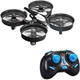 kingtoys® JJRC H36 Mini RC Drone UFO 2.4G 4CH 6 Assi Modalità Headless Telecomando Nano Quadcopter RTF Mode 2, Nero