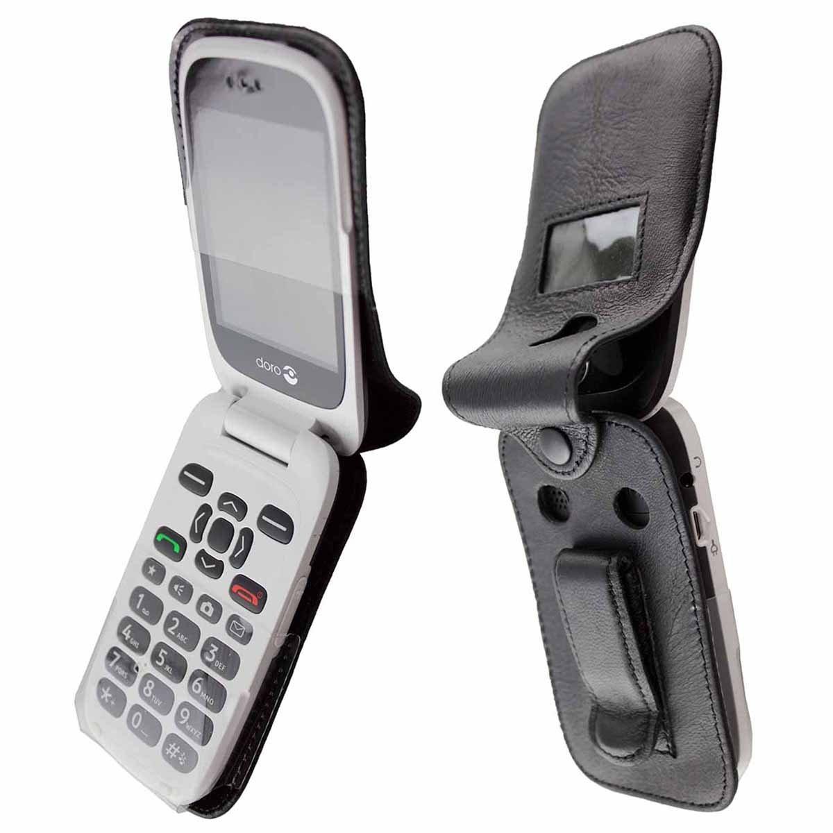 f8dbba6c0ec caseroxx – Housse de téléphone Portable à Clip pour Doro 6530 6531 en Cuir  veritable