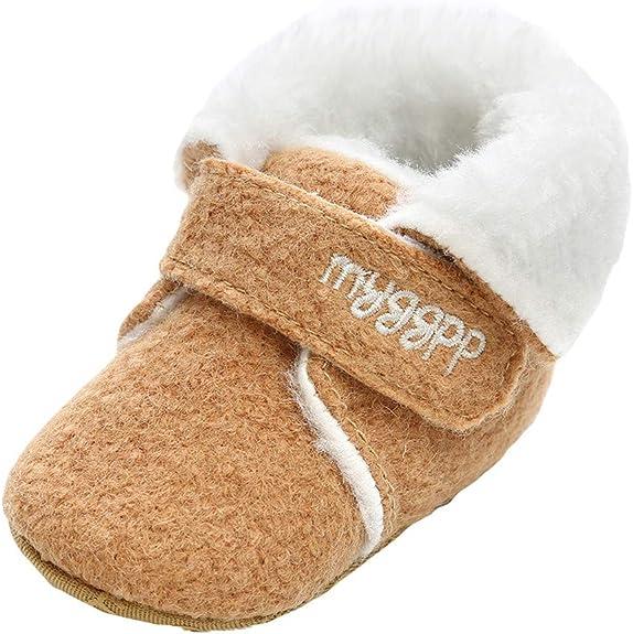 Zapatos de bebé, ASHOP Botines Bebe Invierno Zapatos Bebe niña Primeros Pasos Zapatillas Running (Caqui,0-6 Meses): Amazon.es: Zapatos y complementos