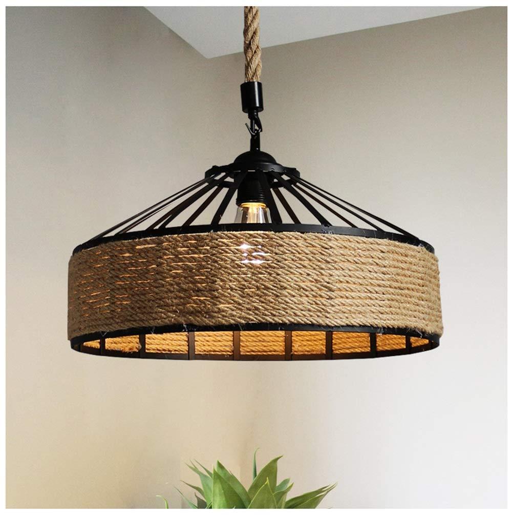GG_L ヴィンテージペンダントライト錬鉄製のひもシャンデリアクリエイティブレストラン天井照明用リビングルームの寝室バー   B07TP2N85L