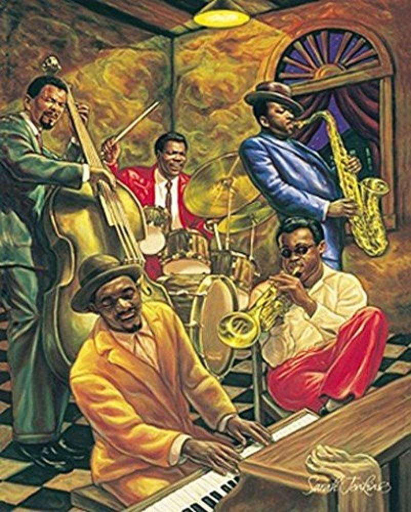 HSE Cool Jazz by Sarah Jenkins African American Musicians Art Print Poster 16x20 - A Publishing House Authorized Open Edition Quality Art Print We Perform a Quality Assurance Check on All Prints Prior to Packaging Them for Shipment Size is 16x20 - wall-art, living-room-decor, living-room - 61fV5cN055L -