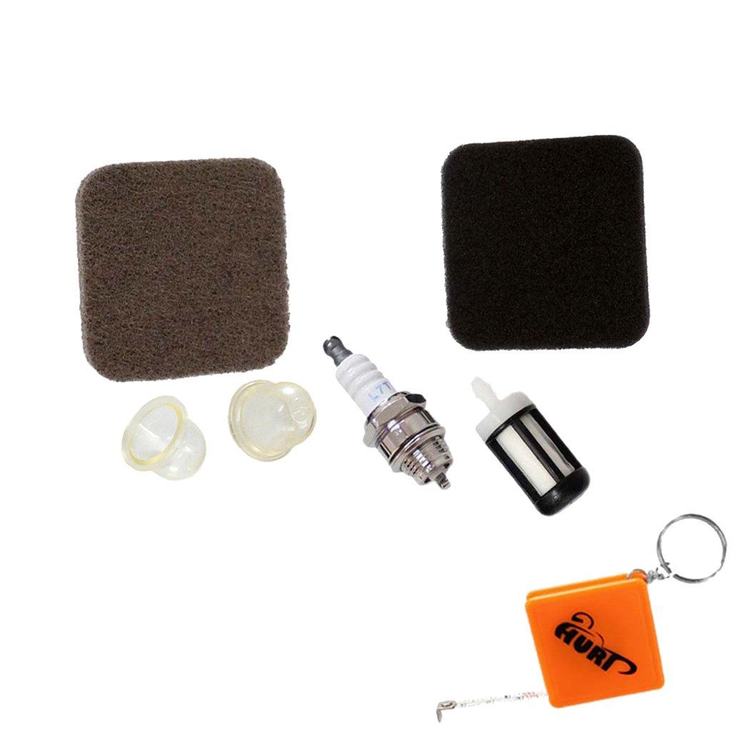 HURI Service Kit Air Filter Spark Plug Fit STIHL FS75 HS80 HS85 HL75 FS80 FS85 KM85 FS85R Strimmer Fuel Filter Does not apply