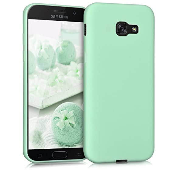 cheap for discount 89f29 ebeb8 kwmobile TPU Silicone Case for Samsung Galaxy A5 (2017) - Soft Flexible  Shock Absorbent Protective Phone Cover - Mint Matte
