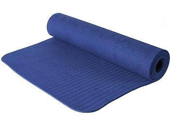 HWH Esterilla Yoga Colchoneta De Fitness para, Antideslizante/Estiramiento, Inicio, Gimnasio, Pilates, Inicio Entrenamiento,Darkblue