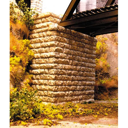 - Chooch Enterprises HO Scale Single Deep Cut Stone Bridge Abutment