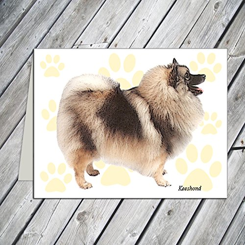 Keeshond Note Cards - Keeshond Note