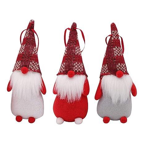 Christmas Gnomes.Partytalk 3pcs Handmade Swedish Tomte Christmas Gnome Scandinavian Santa Gnome Christmas Ornaments For Home Holiday Christmas Hanging Decorations