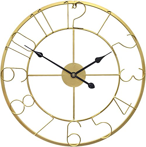 Growsun 30inch Large Wall Clock Metal Modern Fashion Home D cor Living Room Display